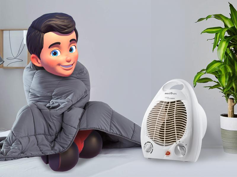 Kerito inverno com coberta e aquecedor