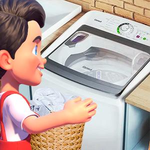 kerito escolhendo lava-roupas